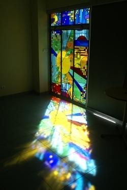 vitrail hopital d'Uzès
