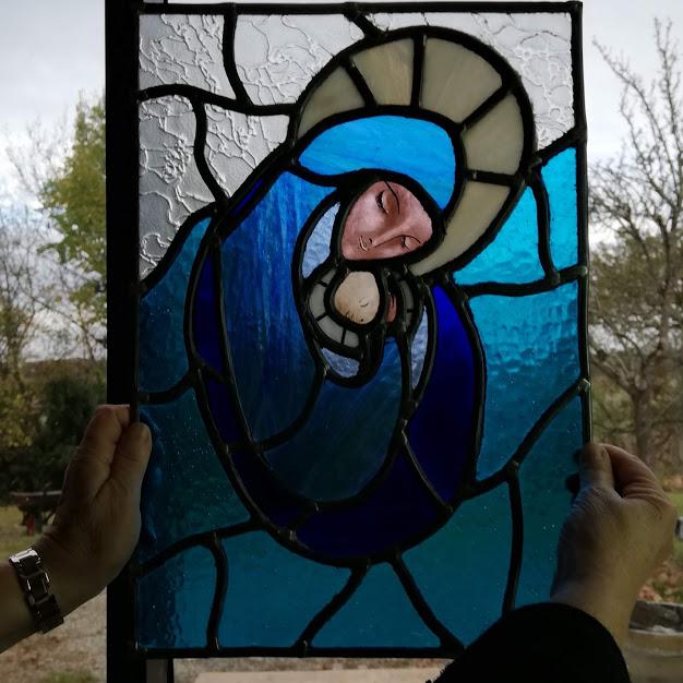 la vierge et l'enfant (stage vitrail)