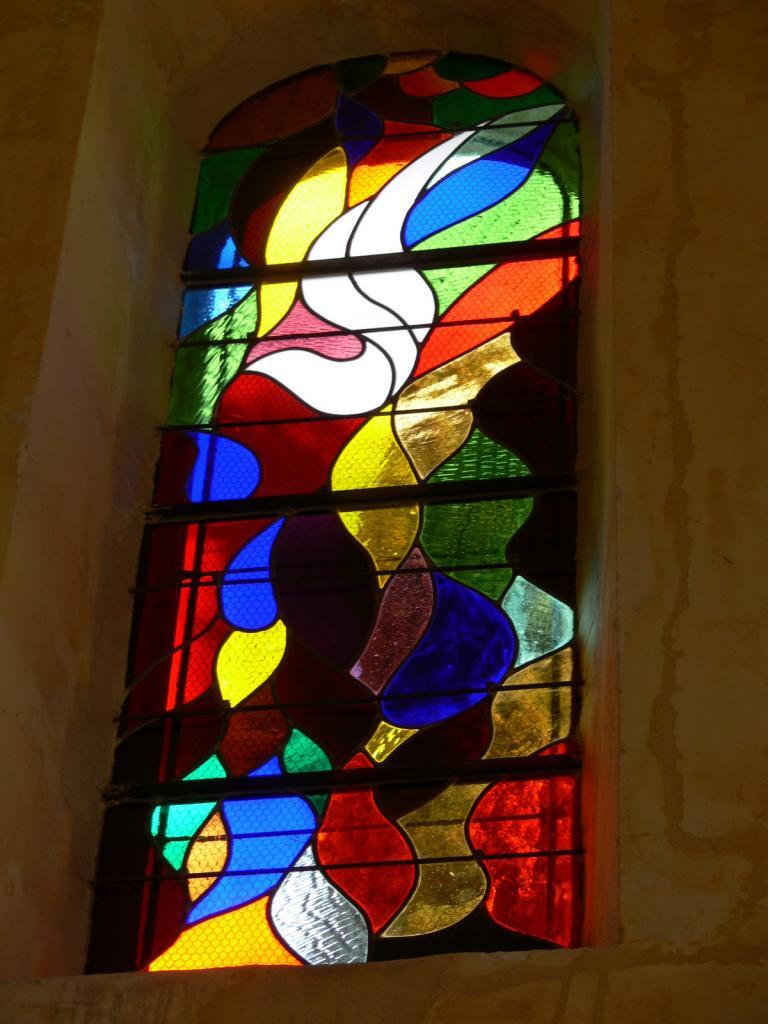 Réalisation vitraux de LA ROQUE SUR CEZE (GARD)