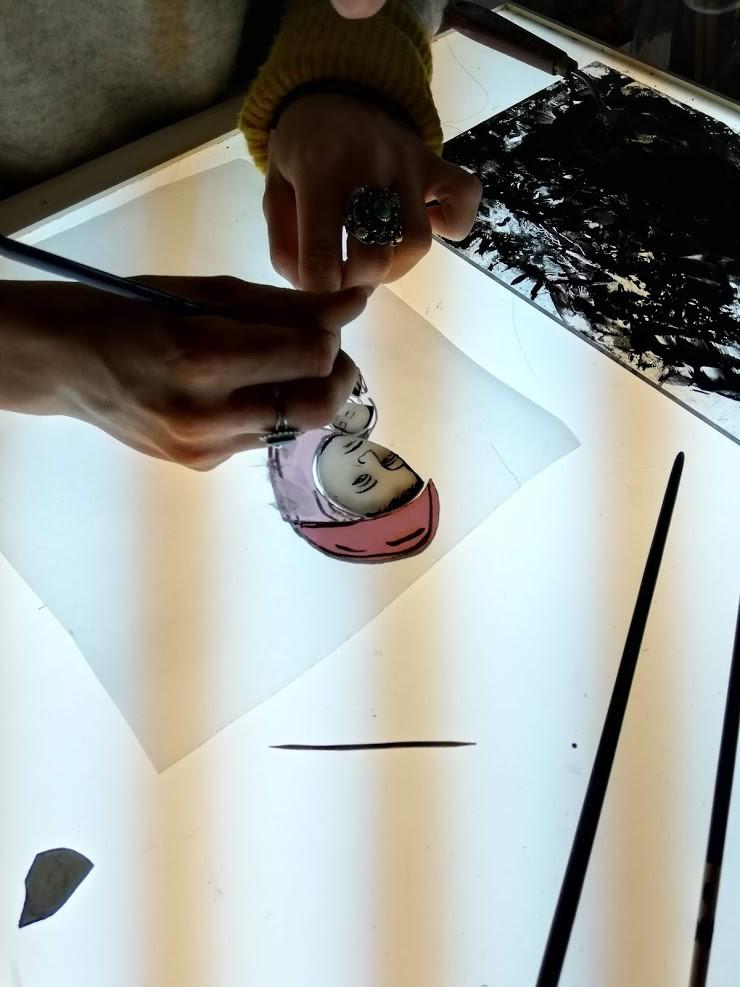 Peinture sur verre 1
